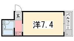 サンキュー・コート伊伝居[402号室]の間取り
