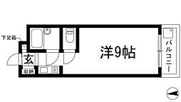 兵庫県川西市山下町の賃貸マンションの間取り