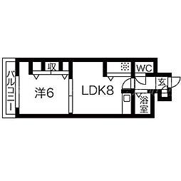 北海道札幌市東区北十二条東16丁目の賃貸マンションの間取り