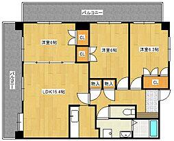 太宰府ひまわりハイツ[3階]の間取り