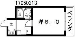 プラビマンション[4階]の間取り