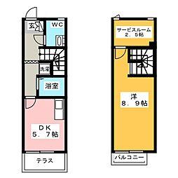 [テラスハウス] 福岡県福岡市東区馬出6丁目 の賃貸【/】の間取り
