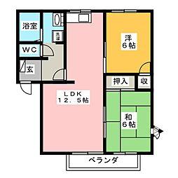 フレグランスイヌマル B棟[2階]の間取り