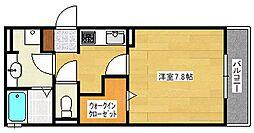広島県広島市安佐南区祇園1丁目の賃貸アパートの間取り