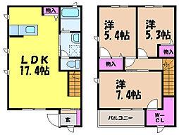 [テラスハウス] 愛媛県松山市東石井5丁目 の賃貸【/】の間取り