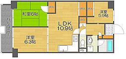 南港ガーデンハイツ24棟[4階]の間取り