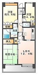 津田沼東パーク・ホームズ壱番館[6階]の間取り