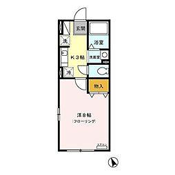 ボーデングハウス手形 A[2階]の間取り