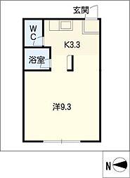 広栄荘7棟[2階]の間取り