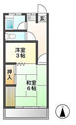 宮島コーポ第2[2階]の間取り