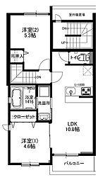 ラディアンK[2階]の間取り