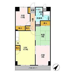 ユナイテッドマンション 105号室[105号室]の間取り