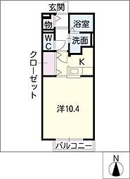 サンステージ泉楽[1階]の間取り