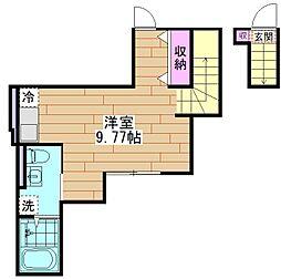 Craft東向島 2階ワンルームの間取り
