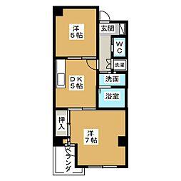 プロムナード21[3階]の間取り