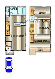 [一戸建] 東京都西東京市中町4 の賃貸【/】の間取り