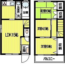 [テラスハウス] 神奈川県相模原市南区相南2丁目 の賃貸【/】の間取り