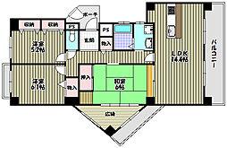 リベラス21 9棟[9階]の間取り