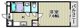 ロイヤルパレス[1階]の間取り