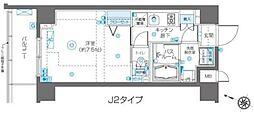 フェニックス飯田橋 3階1Kの間取り