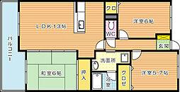 珪州館II[3階]の間取り
