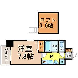 プレサンス名古屋駅前アクシス[201号室]の間取り