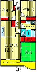 メゾンドベール早稲田III[1階]の間取り