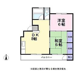 マンション赤山[2階]の間取り
