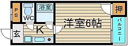 シルフィード堺[2階]の間取り