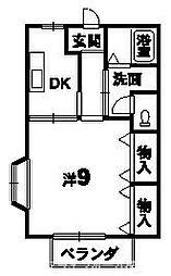 メゾンポワン[2階]の間取り