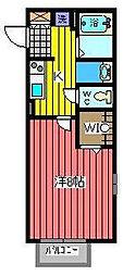 ウィスタ岸町[1階]の間取り