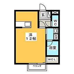 エレガンスハイツ朝菊[2階]の間取り