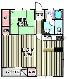 中沢マンション[3階]の間取り