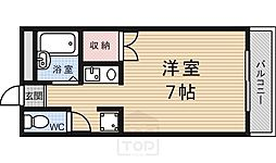 グレーシー西ノ京[4階]の間取り