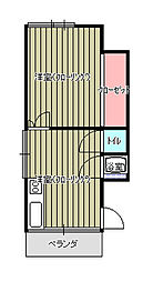 パルセ清水[2階]の間取り
