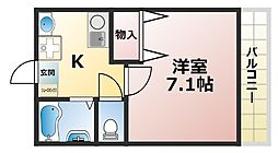 モカ・メゾン・六甲[1階]の間取り