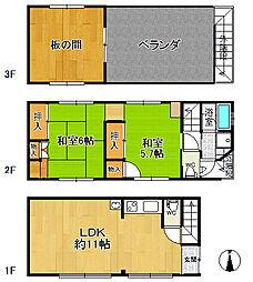 [一戸建] 香川県高松市桜町1丁目 の賃貸【香川県 / 高松市】の間取り