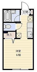 フルハウス[102号室]の間取り