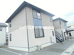 岡山県岡山市北区平野の賃貸アパートの外観