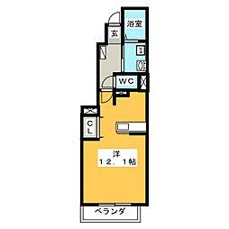 メゾン ナリッシュII B[1階]の間取り