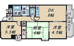空港リブレ大阪屋[10階]の間取り