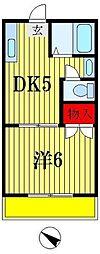 宮内マンション[4階]の間取り