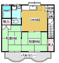 コーポアイ 敷金・礼金0円[201号室号室]の間取り