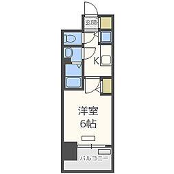 プレサンス野田阪神駅前ザ・プレミアム[3階]の間取り