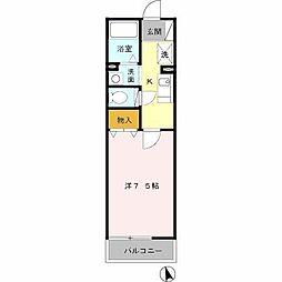 ランブリッセ[1階]の間取り