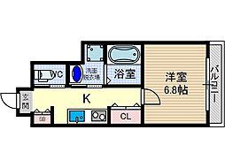 エスト茨木[6階]の間取り