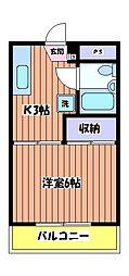 第3恵美寿コーポ[2階]の間取り