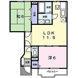 ルミナスKOKUFU[0103号室]の間取り