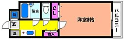 兵庫県西宮市屋敷町の賃貸マンションの間取り