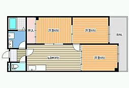 パシフィック天美 第20ビル[5階]の間取り